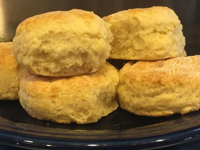 closup showing the texture of old fashoined buttermilk biscuits