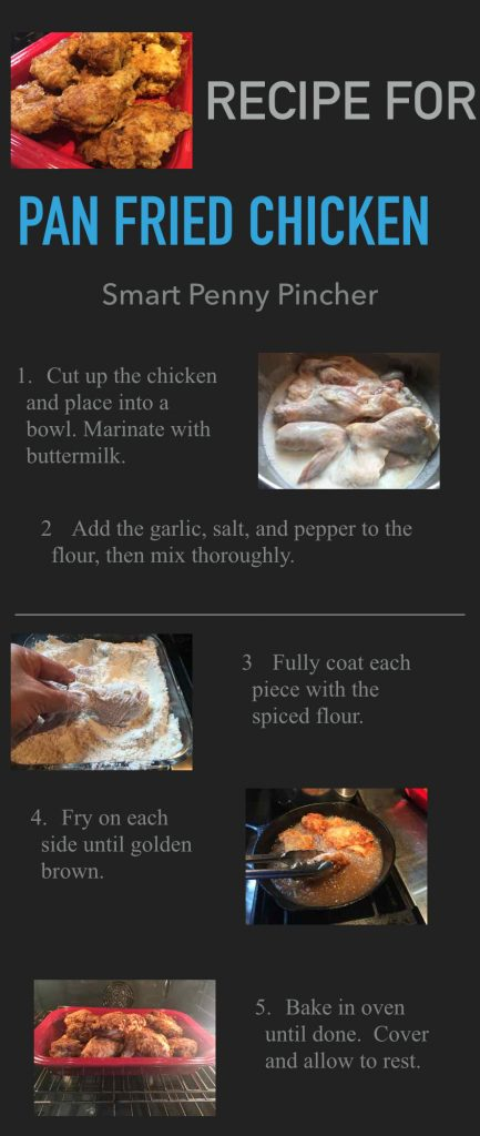 easy pan fried chicken infographic