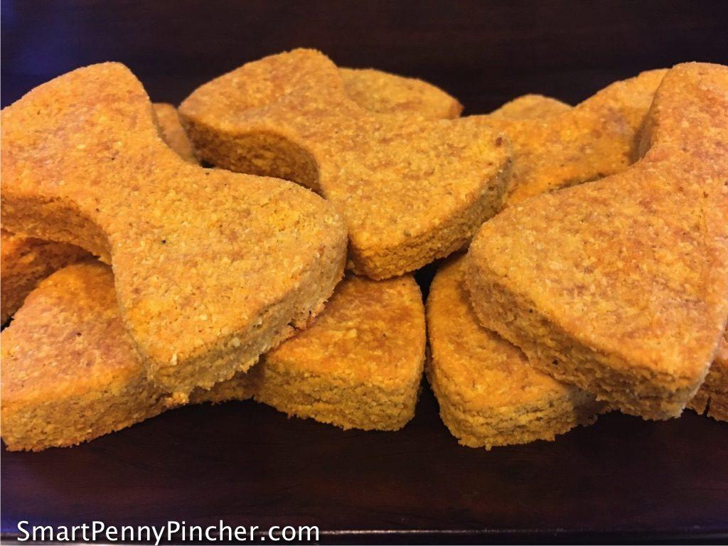 front view of Homemade Grain Free Pumpkin Dog Treats