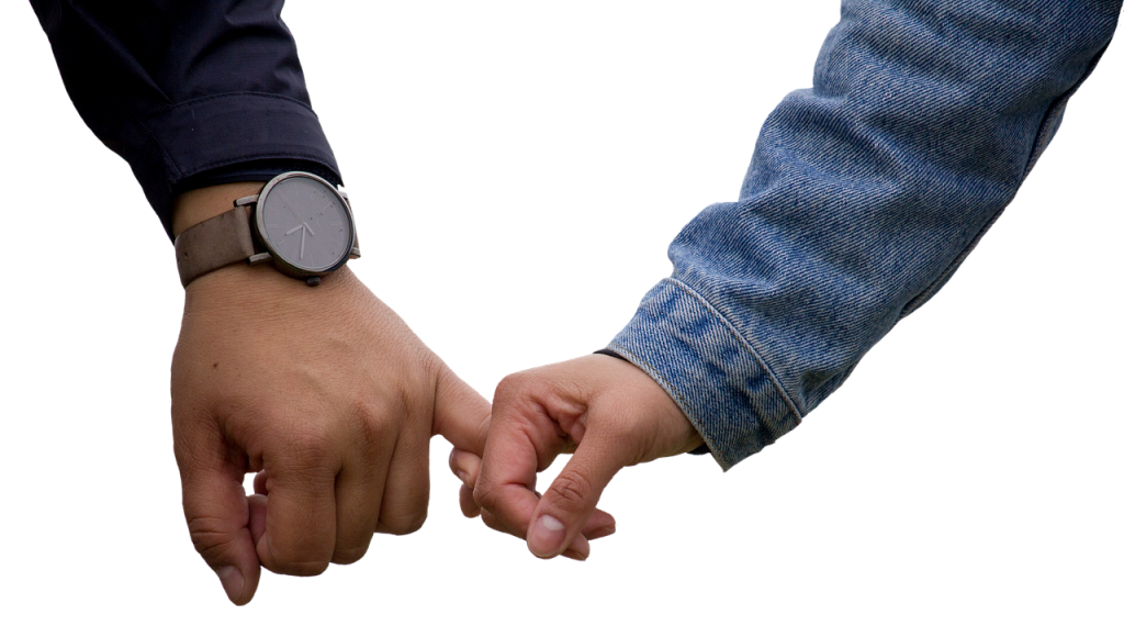 image showing a couple holding hands