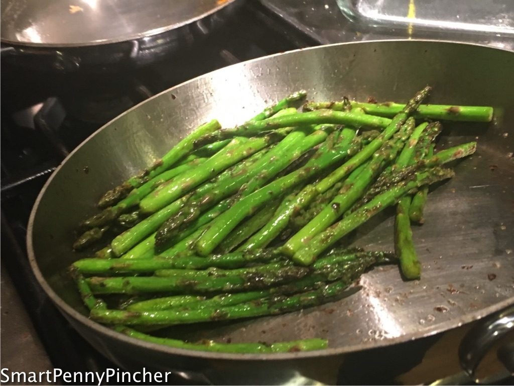 image showing how to turn asparagus by flipping