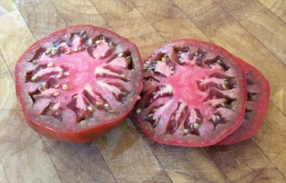 beefsteak tomato top view