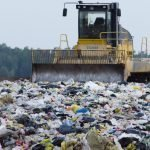landfill showing plastic and general garbage