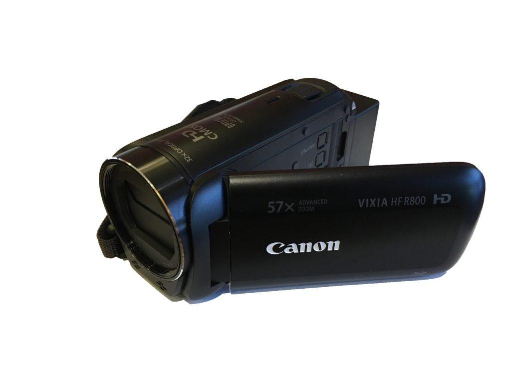 front view canon vixia r800 camcorder